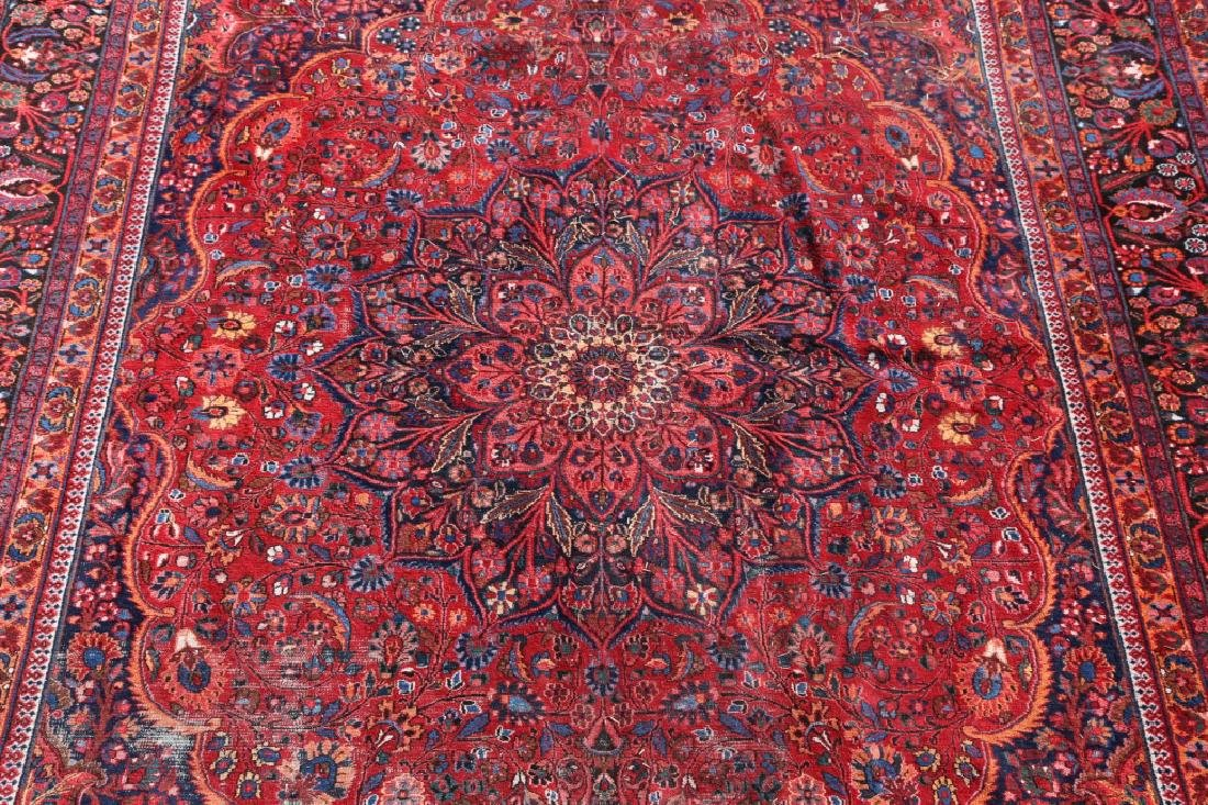 MESHED ANTIQUE HAND WOVEN ROOM SIZE CARPET - 4