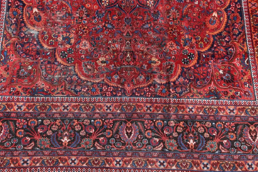 MESHED ANTIQUE HAND WOVEN ROOM SIZE CARPET - 5