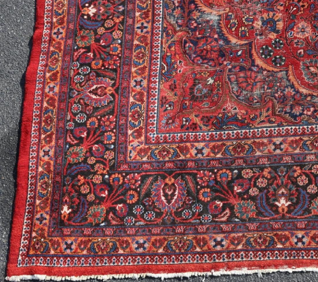 MESHED ANTIQUE HAND WOVEN ROOM SIZE CARPET - 6