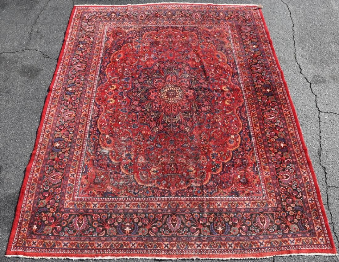 MESHED ANTIQUE HAND WOVEN ROOM SIZE CARPET - 7