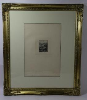 1880 ETCHING ON PAPER AFTER REMBRANDT