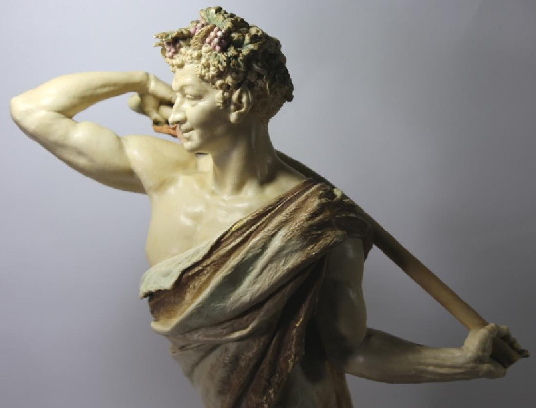 ROYAL WORCESTER PORCELAIN FIGURE OF BACCHUS - 6