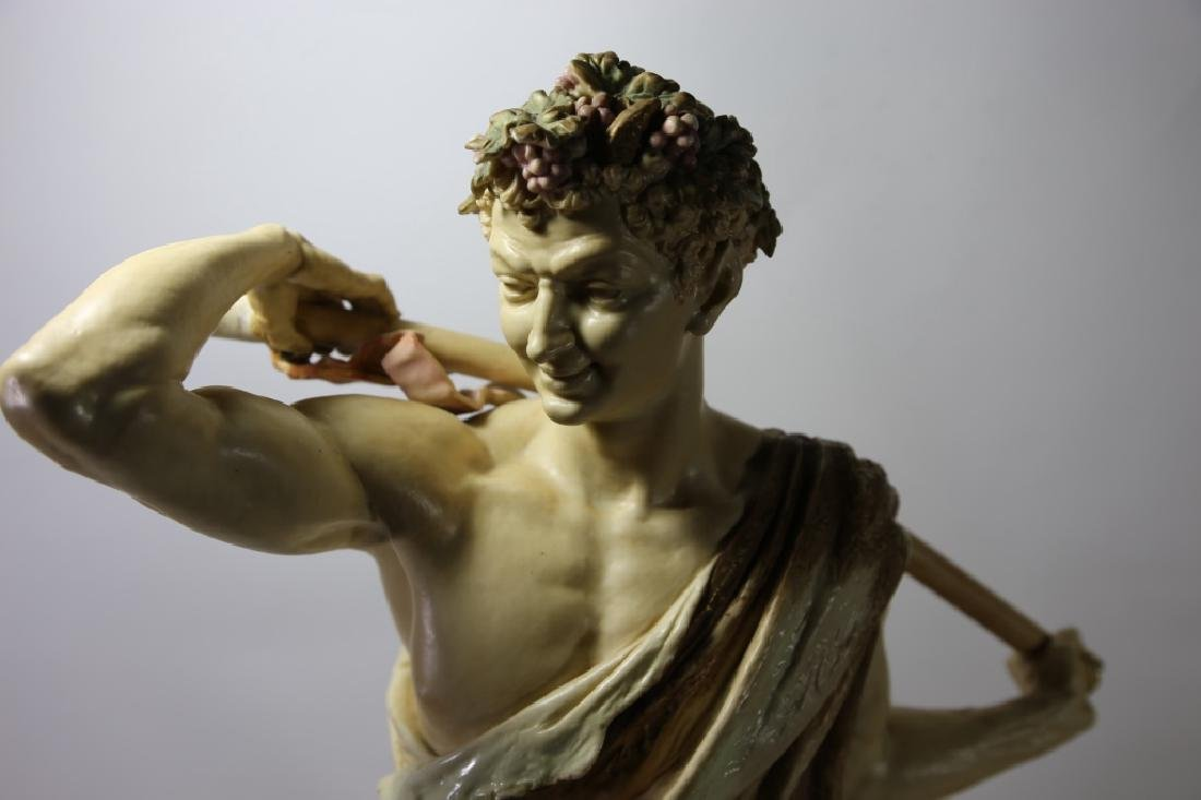 ROYAL WORCESTER PORCELAIN FIGURE OF BACCHUS - 7