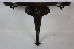 19TH C MAHOGANY WALL CONSOLE TABLE