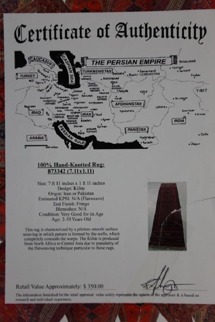 PERSIAN KILIM RUNNER RUG - 10