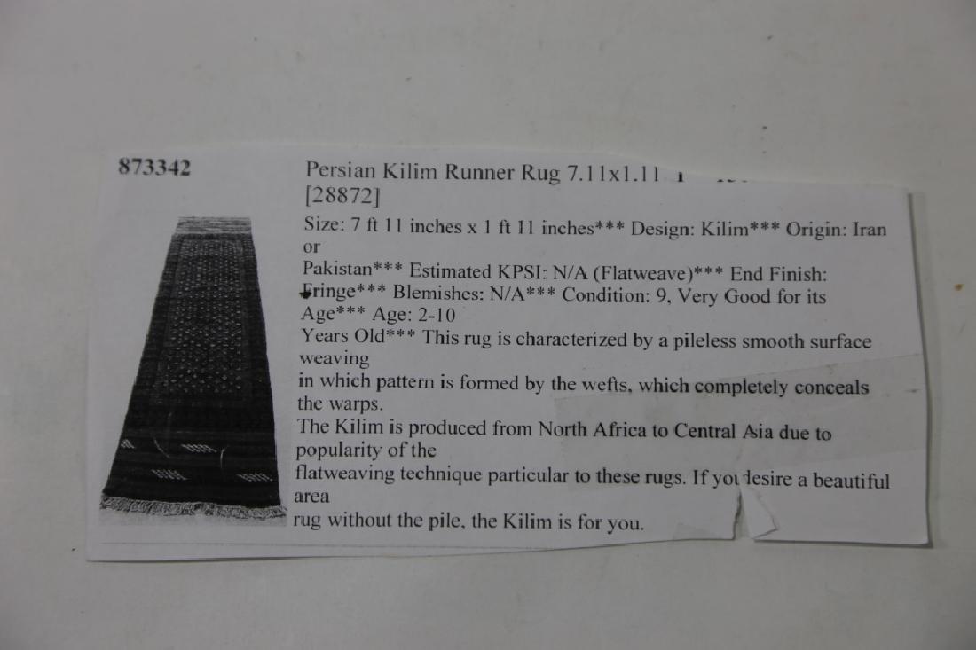 PERSIAN KILIM RUNNER RUG - 8