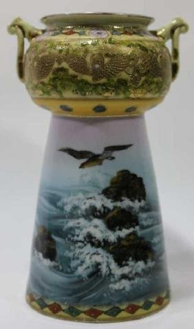 IMPERIAL NIPPON VERY FINE TWIN HANDLED VASE