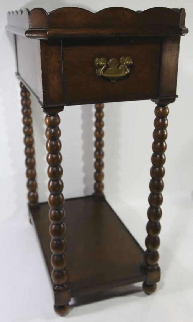 VINTAGE MAHOGANY SIDE TABLE - 4
