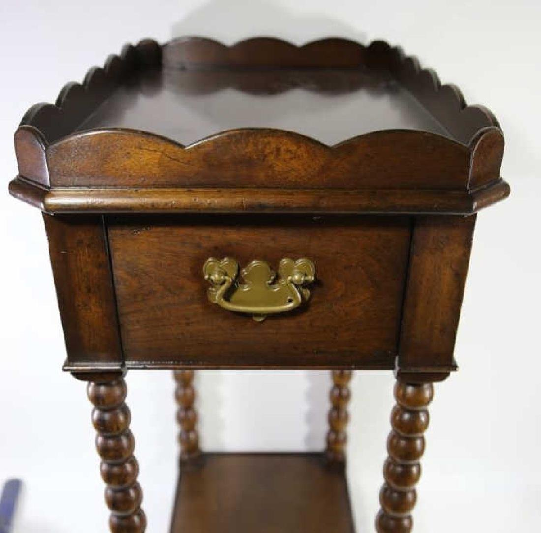 VINTAGE MAHOGANY SIDE TABLE - 6