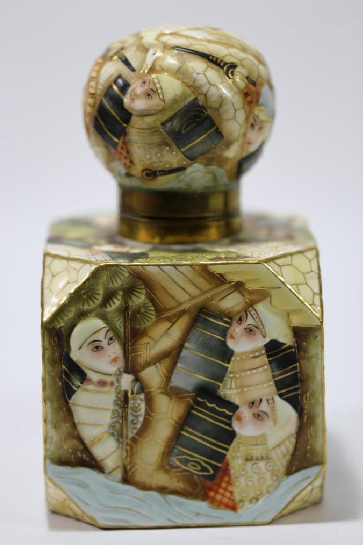 ANTIQUE PORCELAIN INK WELL - 6