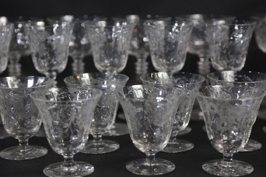 ETCHED CRYSTAL STEMWARE GROUPING (3 SIZES) - 5