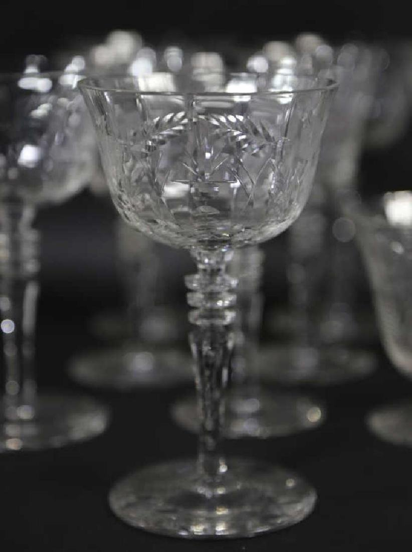 ETCHED CRYSTAL STEMWARE GROUPING (3 SIZES) - 6