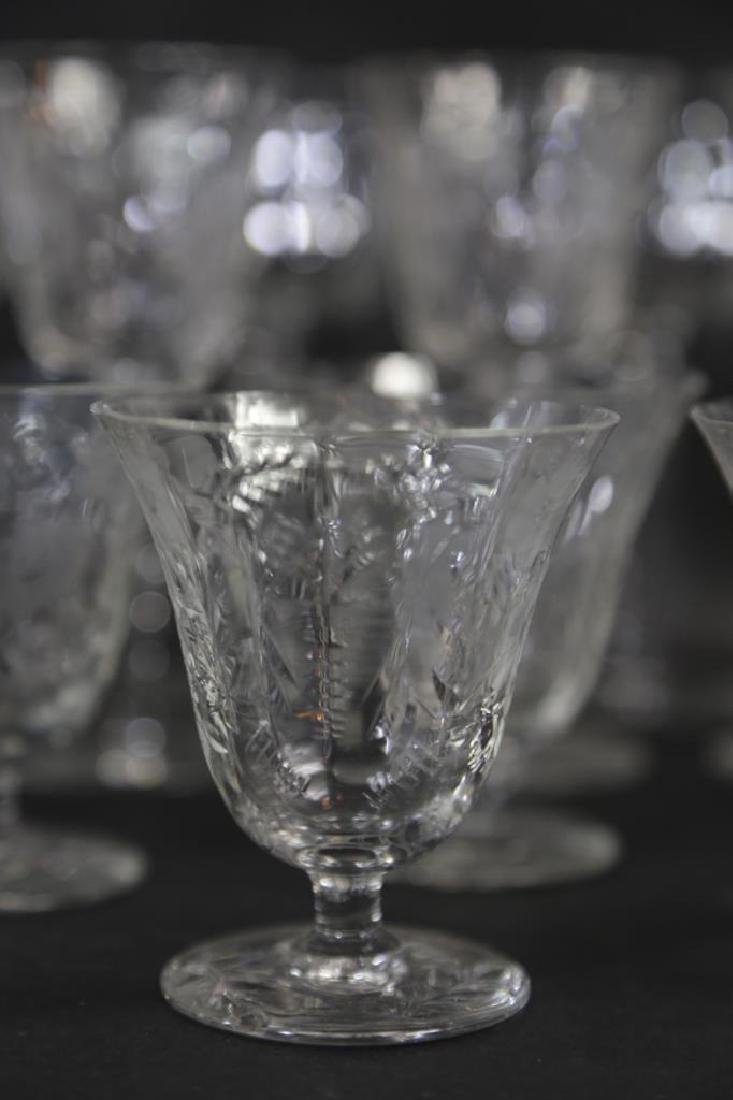 ETCHED CRYSTAL STEMWARE GROUPING (3 SIZES) - 7