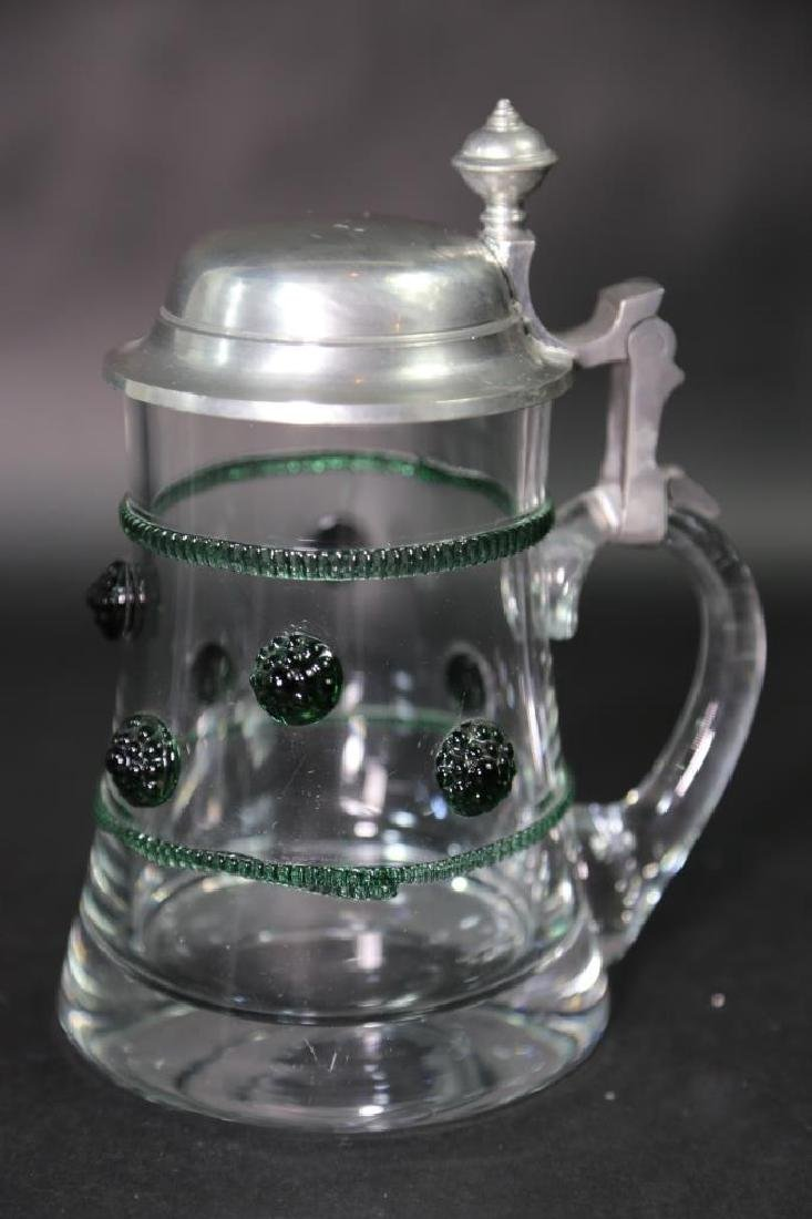 GERMAN CRYSTAL STEIN AND CABLE, PEWTER LID