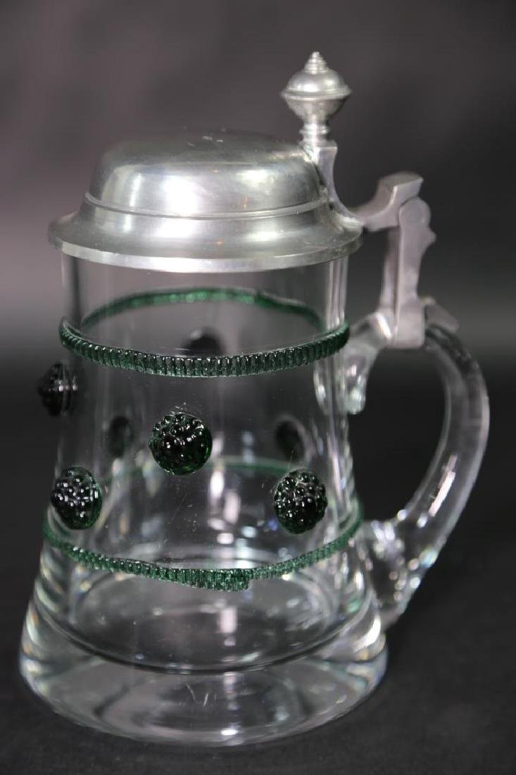 GERMAN CRYSTAL STEIN AND CABLE, PEWTER LID - 2