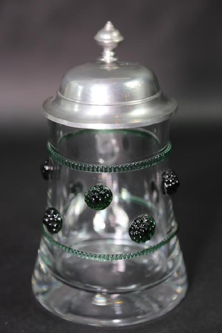 GERMAN CRYSTAL STEIN AND CABLE, PEWTER LID - 3