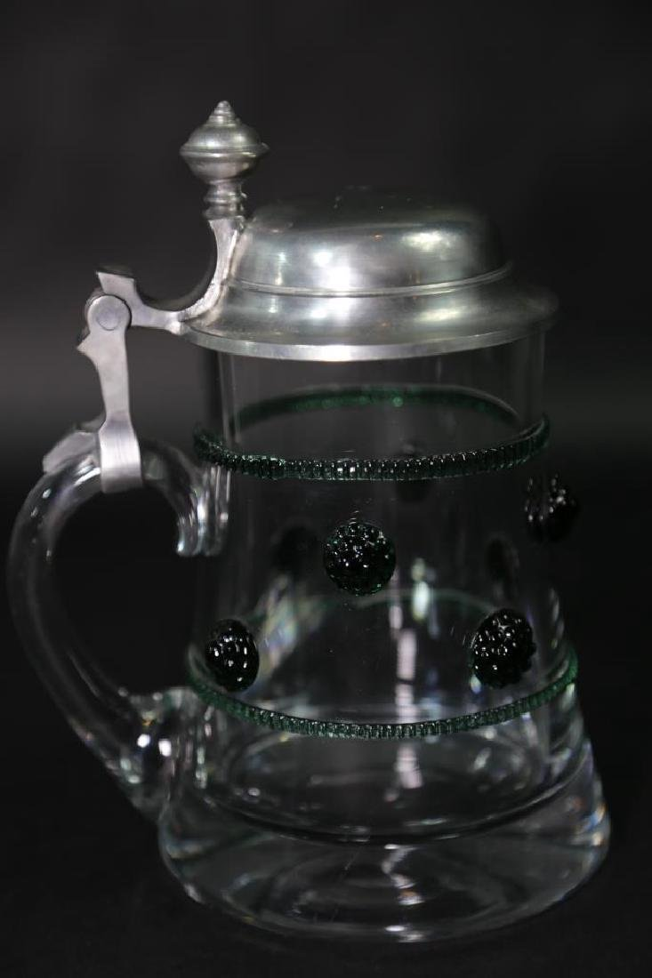 GERMAN CRYSTAL STEIN AND CABLE, PEWTER LID - 5
