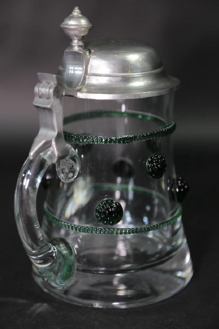 GERMAN CRYSTAL STEIN AND CABLE, PEWTER LID - 7