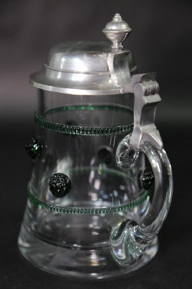 GERMAN CRYSTAL STEIN AND CABLE, PEWTER LID - 8