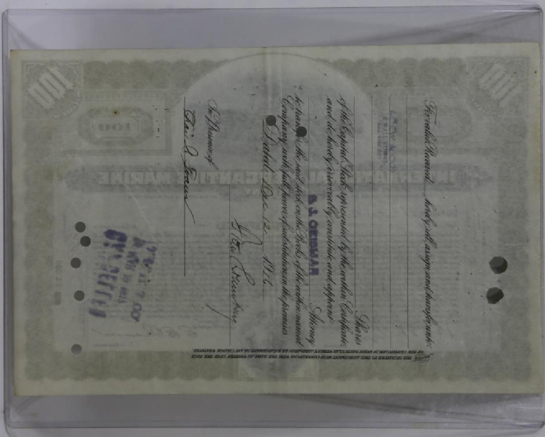 TITANIC INTERNATIONAL MERCANTILE MARINE STOCK CERT - 6