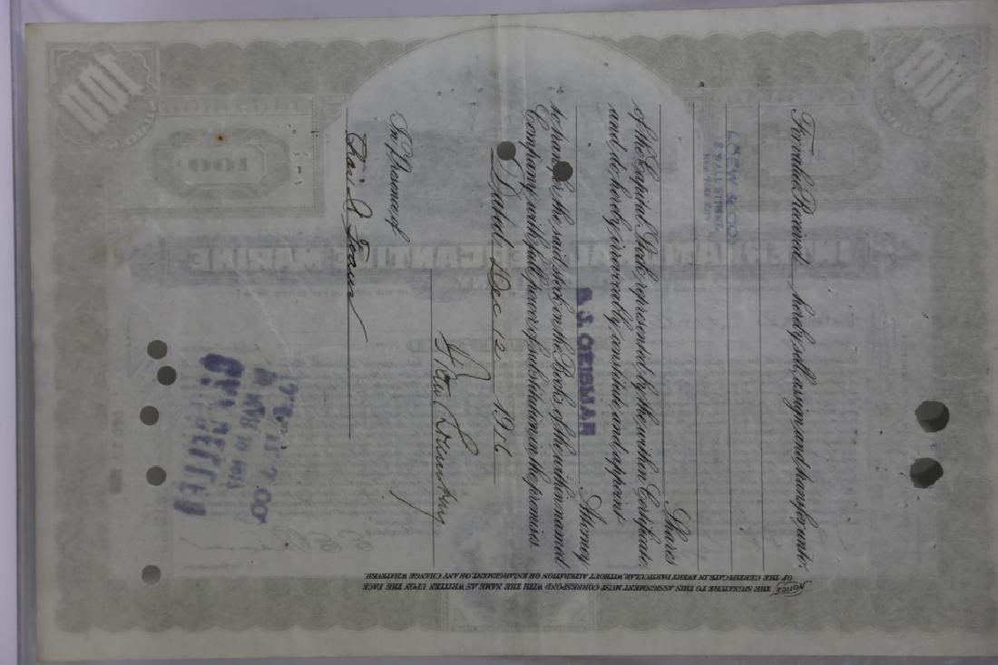 TITANIC INTERNATIONAL MERCANTILE MARINE STOCK CERT - 7