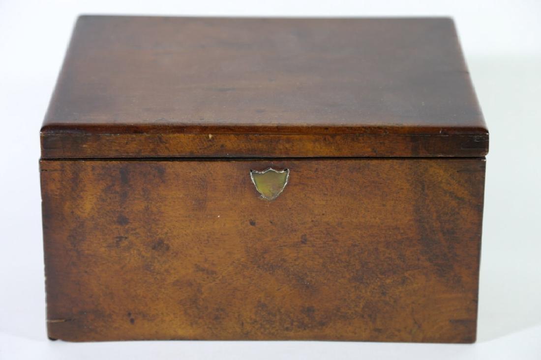 BOWEN & SANFORD ENGLISH ANTIQUE WALNUT LETTER BOX