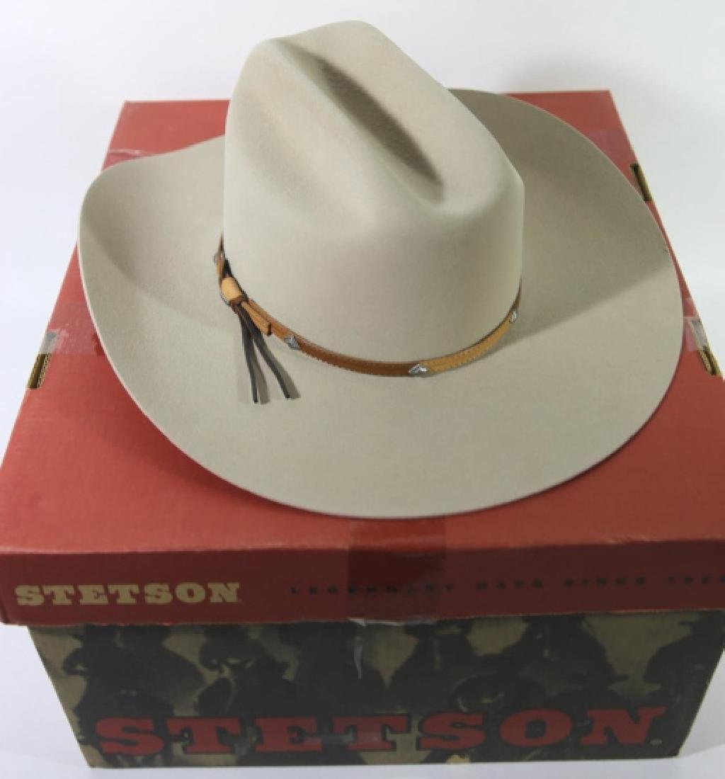 STETSON XXXX BEAVER MOUNTED HAT WITH ORIGINAL BOX