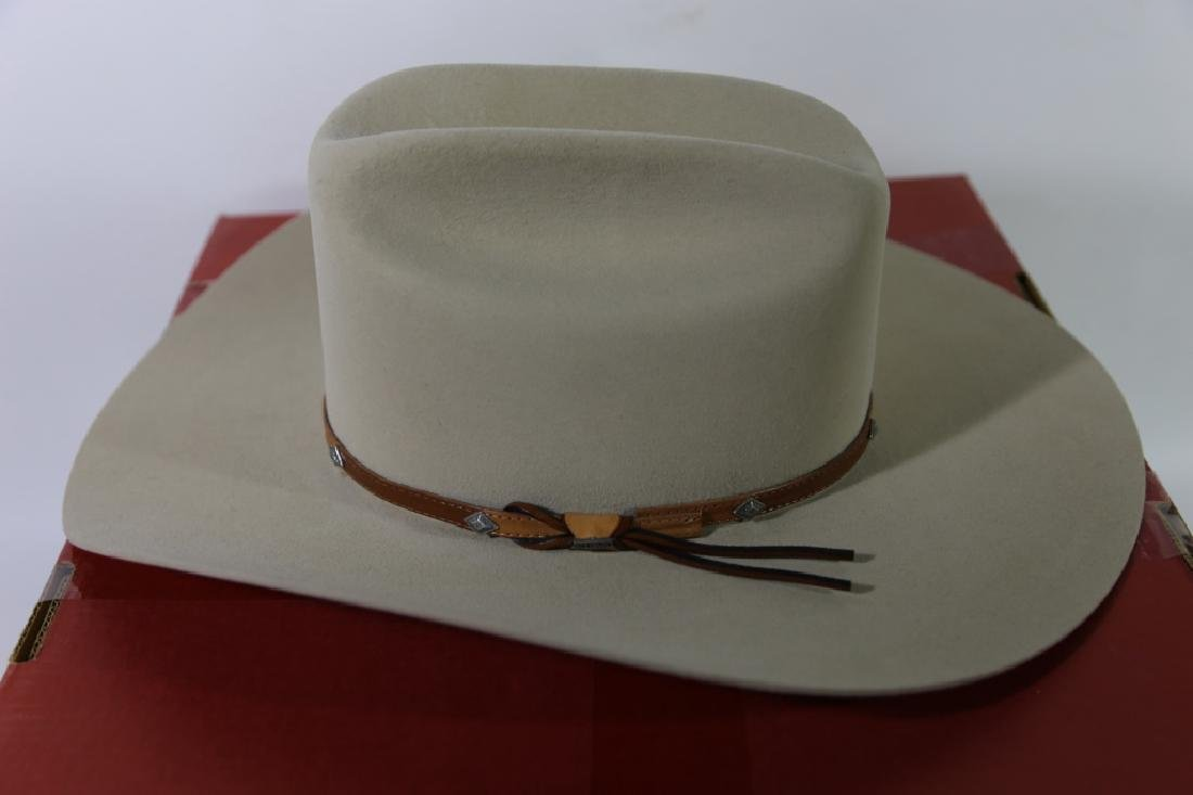 STETSON XXXX BEAVER MOUNTED HAT WITH ORIGINAL BOX - 6