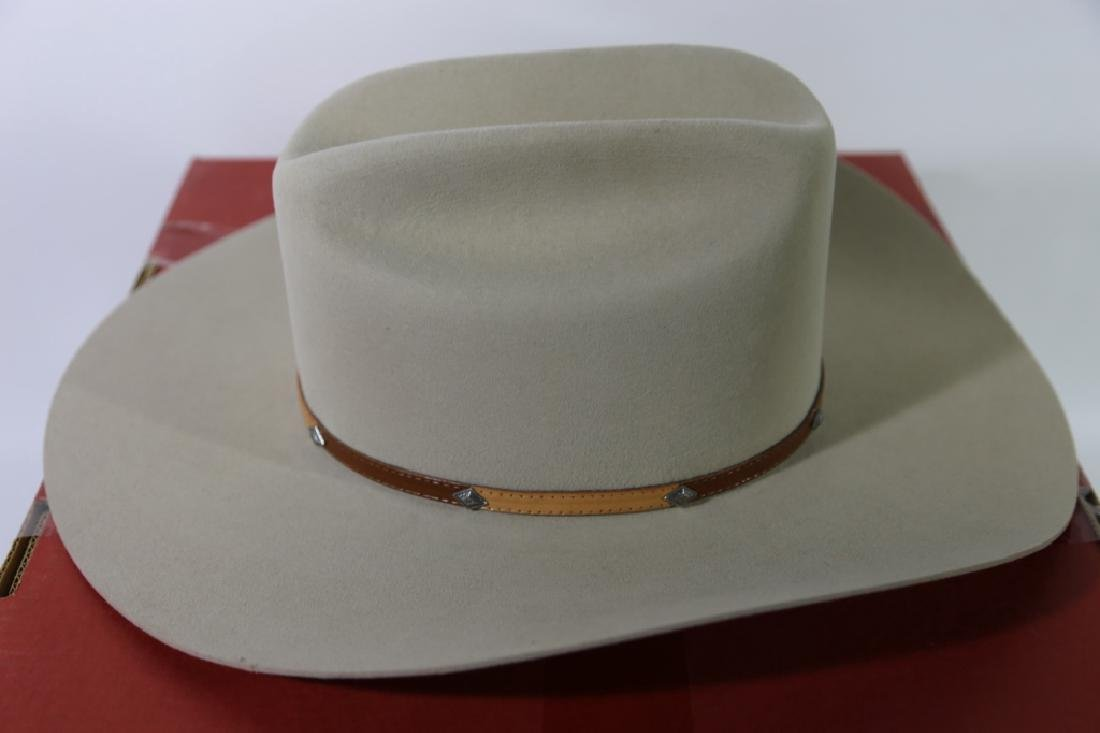 STETSON XXXX BEAVER MOUNTED HAT WITH ORIGINAL BOX - 7