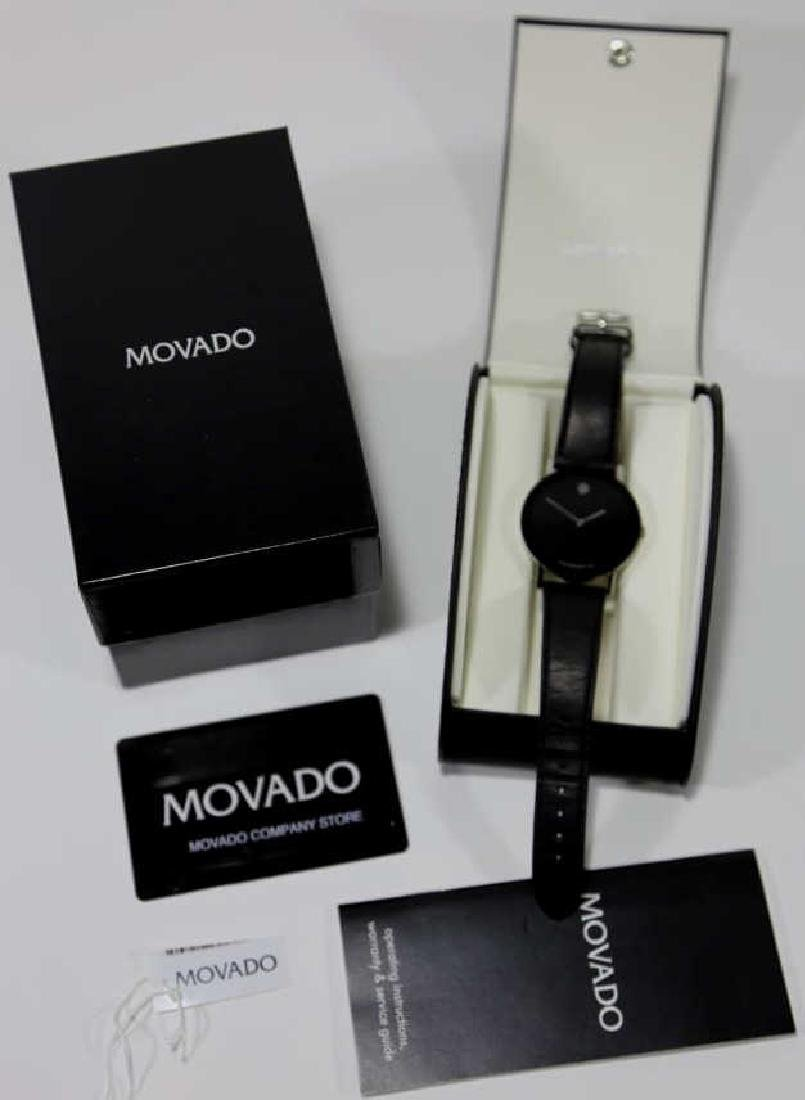 MOVADO MENS MUSEUM WATCH W/ BOX & PAPERS - 3