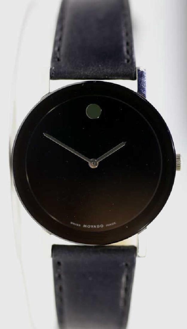 MOVADO MENS MUSEUM WATCH W/ BOX & PAPERS - 5
