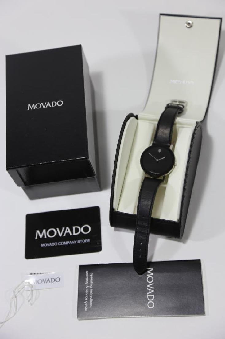 MOVADO MENS MUSEUM WATCH W/ BOX & PAPERS - 6