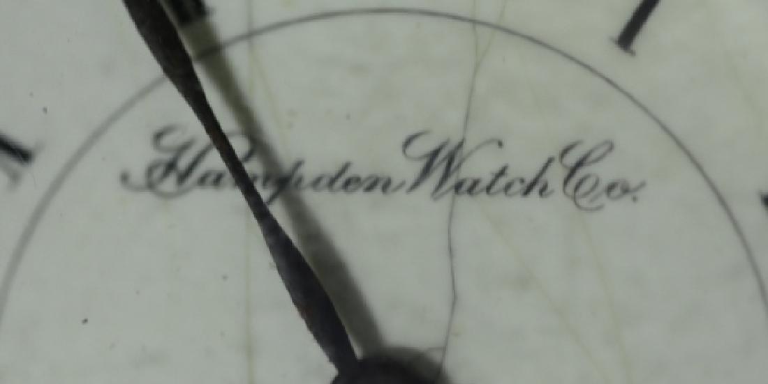 HAMPDEN WATCH CO. DUEBER  ANTIQUE POCKET WATCH - 5