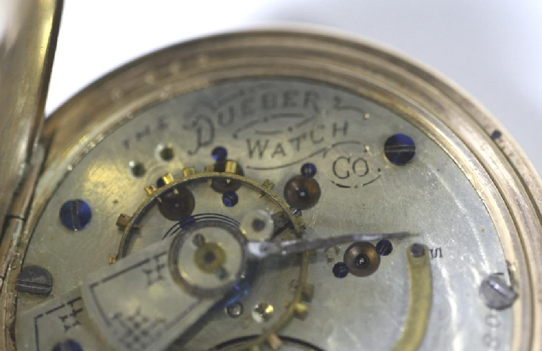 HAMPDEN WATCH CO. DUEBER  ANTIQUE POCKET WATCH - 7