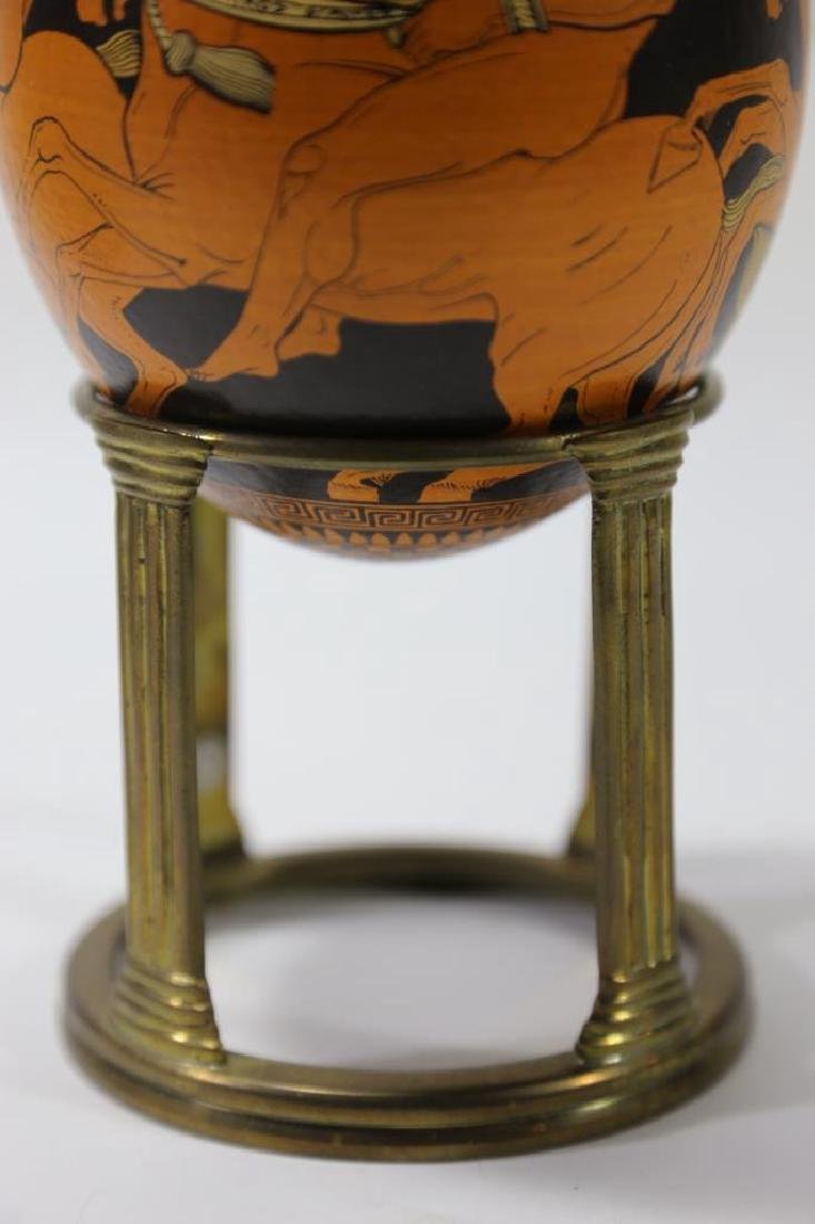 ATCLASSICAL DECORATED OSTRICH EGG ON STAND - 3