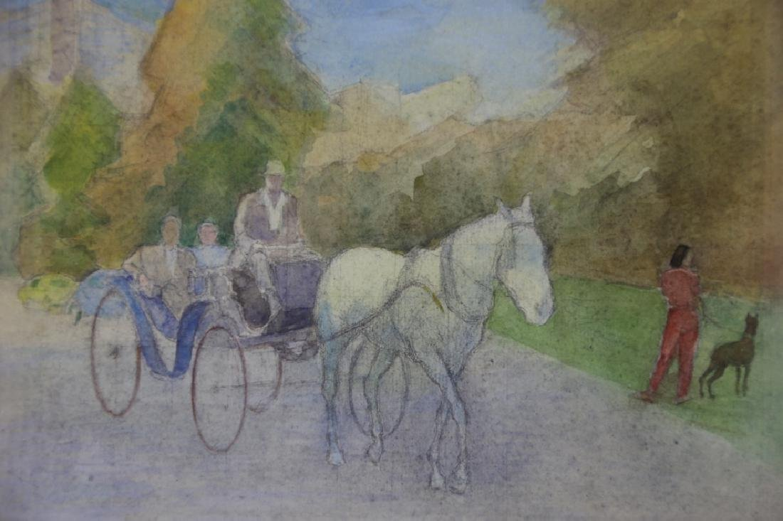 BORIS SOLOTAREFF (1889-1966)AUTUMN IN CENTRAL PARK - 3