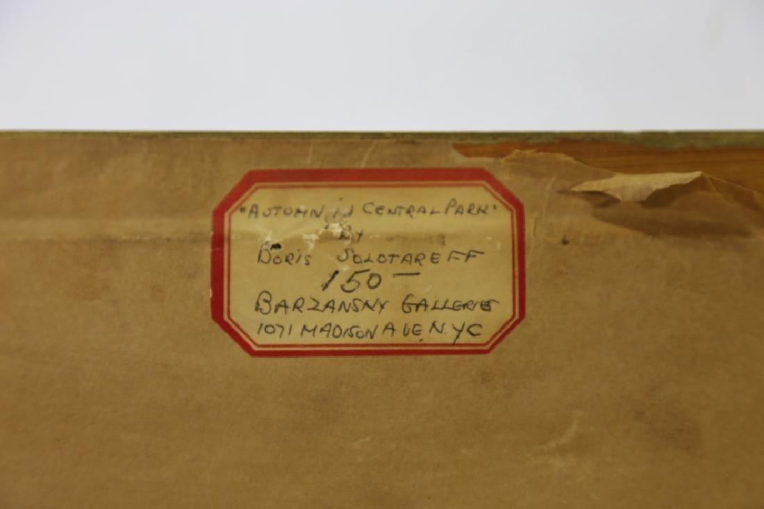 BORIS SOLOTAREFF (1889-1966)AUTUMN IN CENTRAL PARK - 9