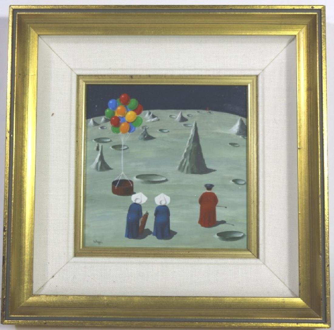FRANK WHIPPLE (AMERICAN 1923-2016) NUNS ON MOON