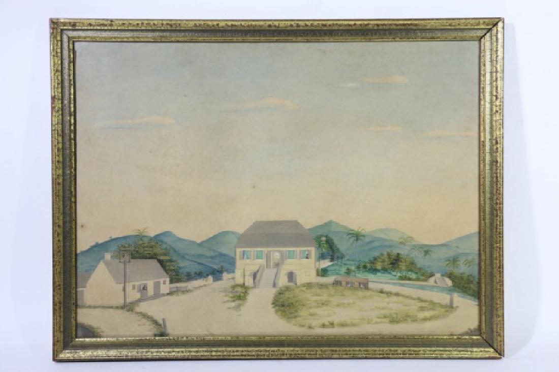 L.J. HARBOE 1840 ST CROIX ORIGINAL  DRAWING