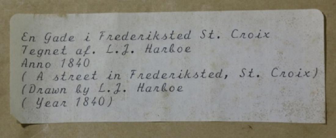 L.J. HARBOE 1840 ST CROIX ORIGINAL DRAWING - 9