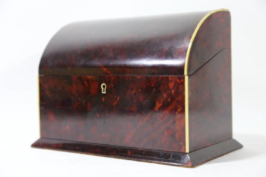 ENGLISH ANTIQUE TORTOISE SHELL DOCUMENT BOX