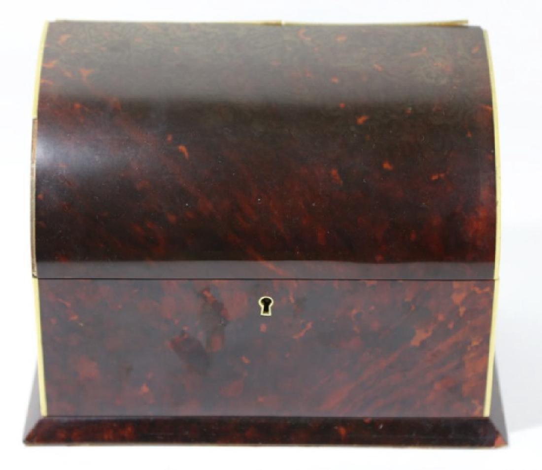 ENGLISH ANTIQUE TORTOISE SHELL DOCUMENT BOX - 2