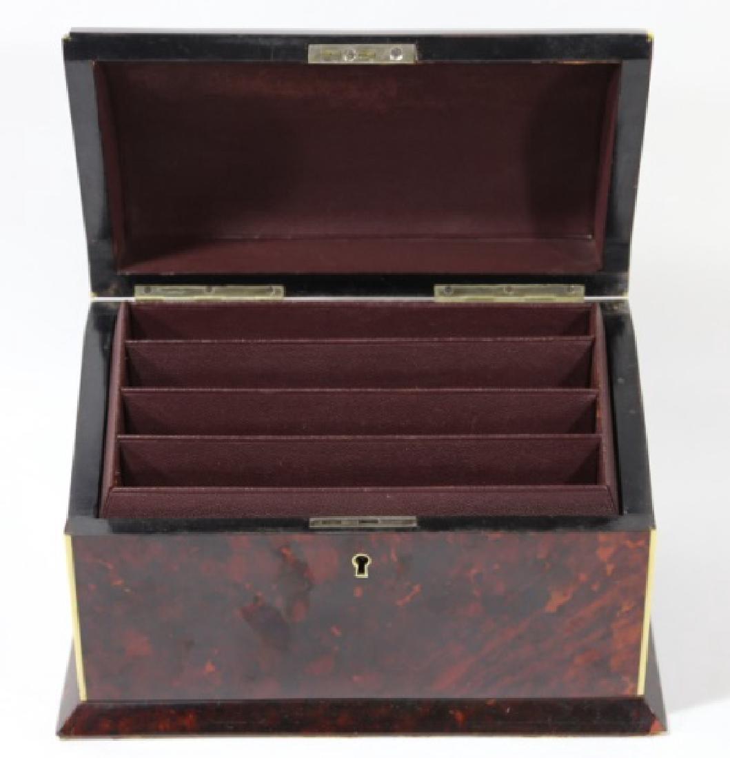 ENGLISH ANTIQUE TORTOISE SHELL DOCUMENT BOX - 4