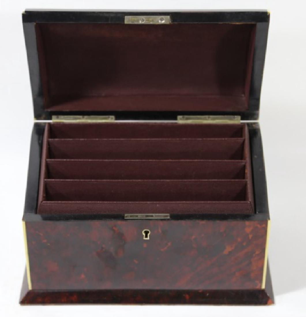 ENGLISH ANTIQUE TORTOISE SHELL DOCUMENT BOX - 5