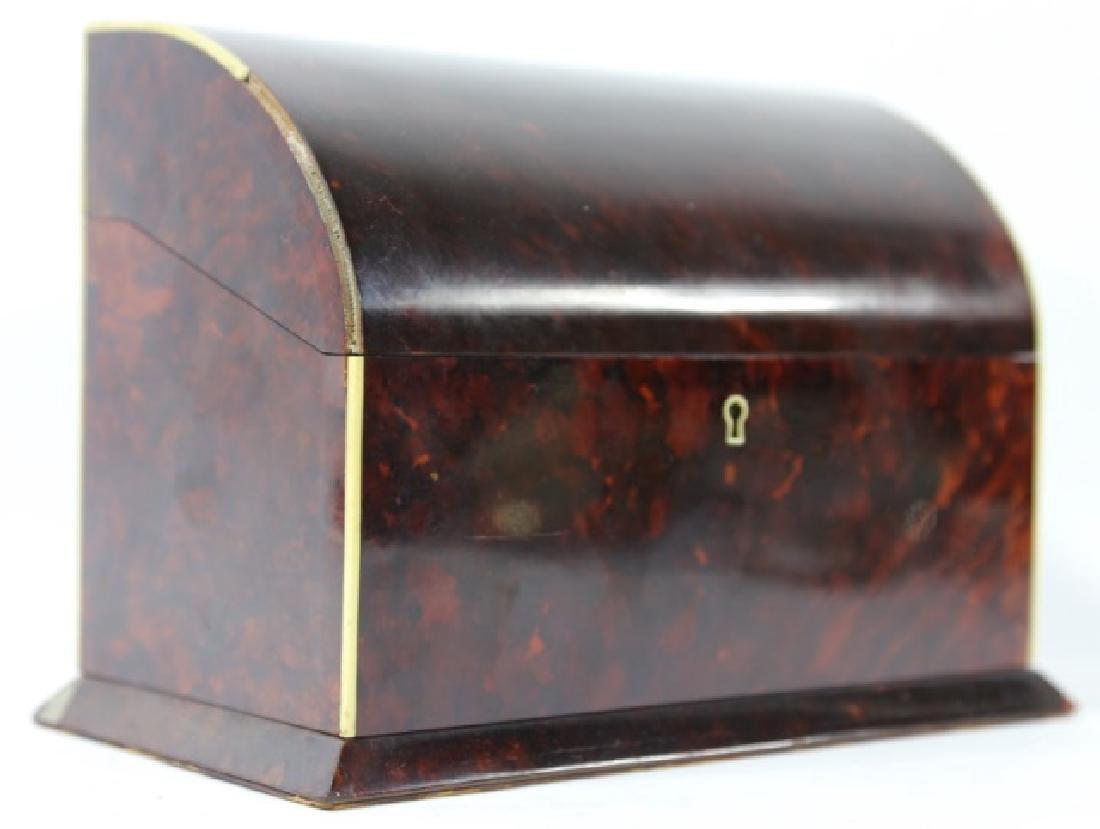 ENGLISH ANTIQUE TORTOISE SHELL DOCUMENT BOX - 7