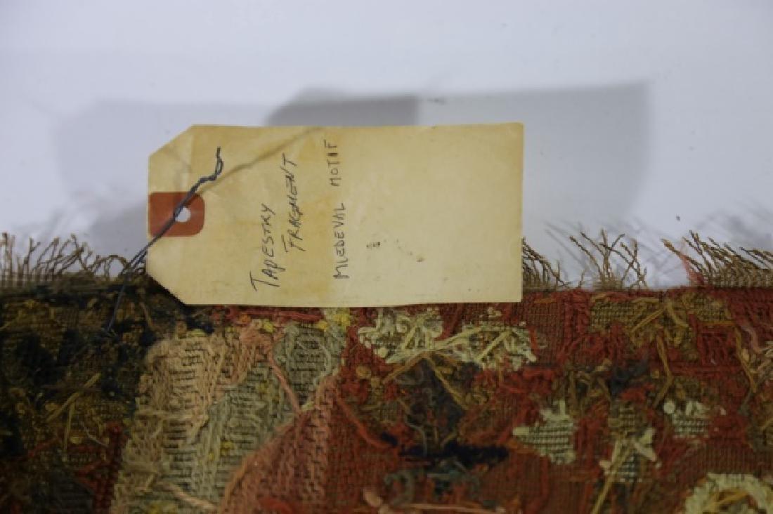 ENGLISH 19TH C. NEEDLEPOINT TAPESTRY FRAGMENT - 8