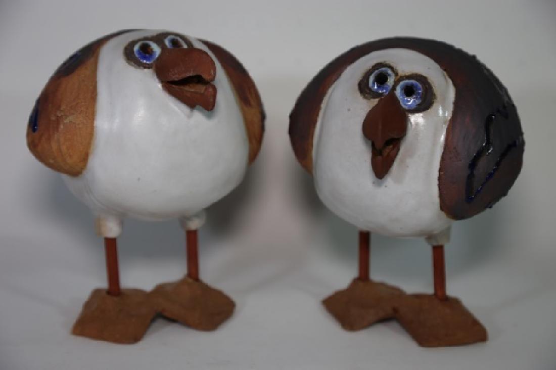 ART BY SUE FINE  POTTERY BIRDS - 6