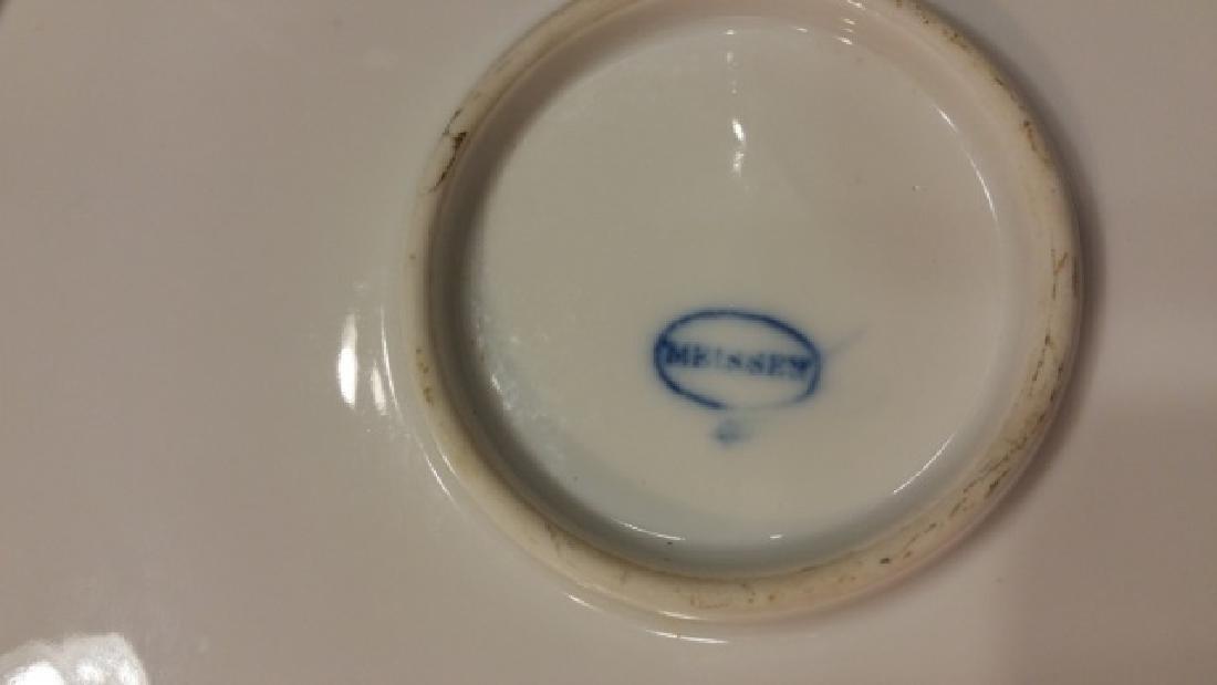 MEISSEN BLUE & WHITE ONION PORCELIAN SERVING BOWL - 2