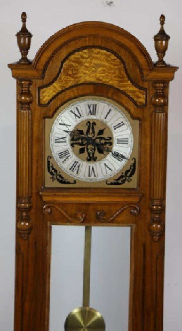 VINTAGE WALNUT GRANDMOTHER CASE CLOCK - 2