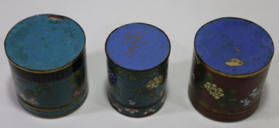 CHINESE CLOISENE TEA BOX GROUPING - 4